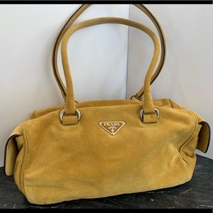 Prada yellow suede bag